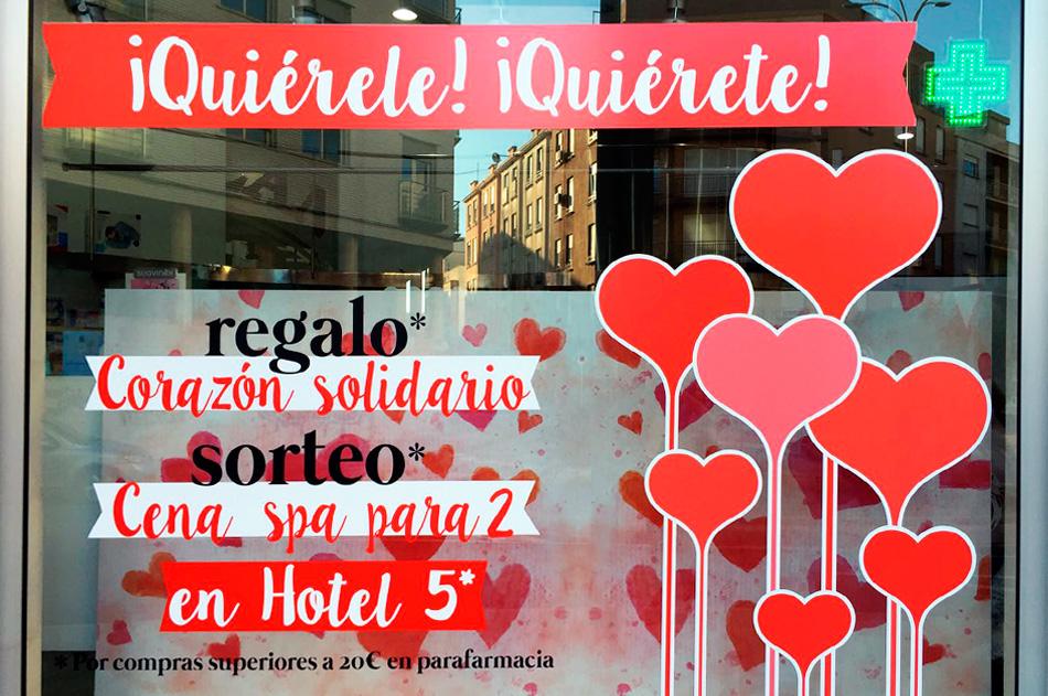 Escaparates originales y personalizados de San Valentin