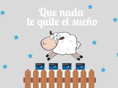 Insomnio oveja saltando