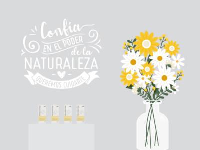 Natural jarrón